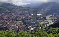 The cityscape of Bilbao - capital city of Basque country royalty free stock image