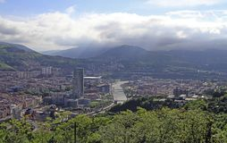 The cityscape of Bilbao - capital city of Basque country royalty free stock photo