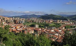 The cityscape of Bilbao - capital city of Basque country stock images
