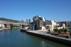 Cityscape of Bilbao. the Guggenheim museum royalty free stock photos