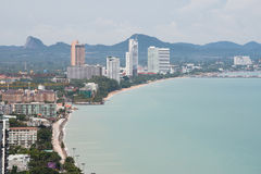 Cityscape bird's eye view of Pattaya. Stock Images