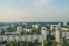 Cityscape - Birdeye sikt Arkivbilder