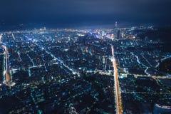 Taipei Night View Aerial Photography stock photo