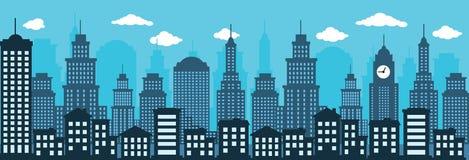 Cityscape (blått) Arkivbilder