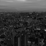 Cityscape black and white in low poly design royalty free stock photography