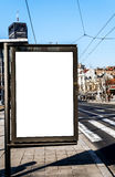 Cityscape blank billboard for the user to modify Royalty Free Stock Photo