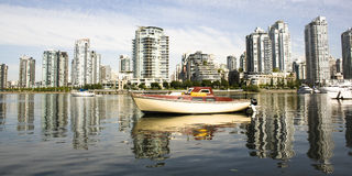 Cityscape and boat Stock Photo