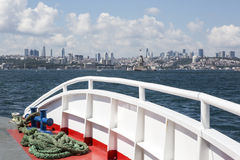 Cityscape from a boat, Istanbul Royalty Free Stock Photos
