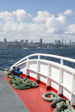 Cityscape from a boat, Istanbul Royalty Free Stock Image