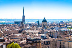 Cityscape of Bordeaux in France. Panoramic view of the city of Bordeaux in France Royalty Free Stock Image