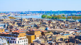 Cityscape of Bordeaux in France. Panoramic view of the city of Bordeaux in France royalty free stock images