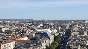 Cityscape of Bordeaux, in southwestern France.