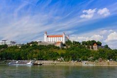 Cityscape of Bratislava city Stock Image
