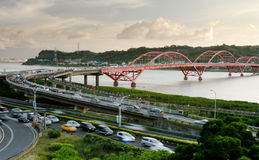 Cityscape of bridge and cars Stock Photo