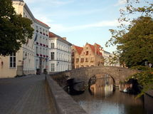 Cityscape of Bruges, Belgium Royalty Free Stock Images