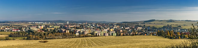 Cityscape Bruntal. Panoramic views of the city Bruntal/Czech Republic royalty free stock photos