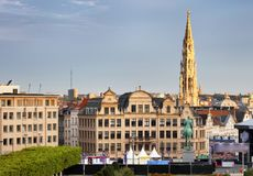 Cityscape of Brussels in a beautiful summer day Stock Image