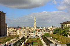Panorama of Brussels, Belgium Royalty Free Stock Images