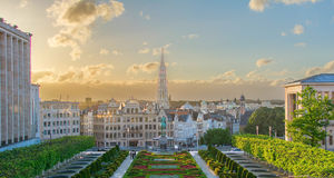 Cityscape of Brussels Stock Photography