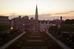 Cityscape of Brussels Royalty Free Stock Photos