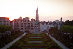 Cityscape of Brussels Royalty Free Stock Image