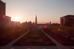 Cityscape of Brussels Royalty Free Stock Images