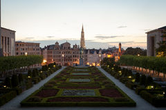 Cityscape of Brussels Stock Image