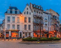 Cityscape of Brussels at sunset Stock Photo