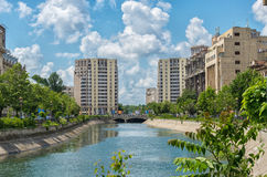 Cityscape from Bucharest with view at United Nations Square Stock Photography