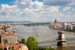 Cityscape of Buda in Budapest, Hungary Stock Images