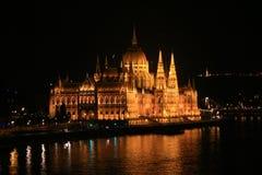 Cityscape of Budapest, Hungary. With Chain bridge, Basilic and palaces Royalty Free Stock Photos