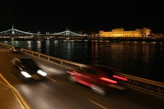 Cityscape of Budapest at night Royalty Free Stock Photography