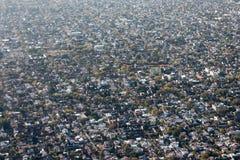 Cityscape Buenos Aires för flyg- sikt Arkivbilder