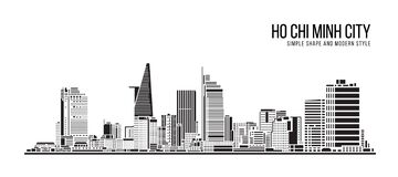 Free Cityscape Building Abstract Simple Shape And Modern Style Art Vector Design - Ho Chi Minh City Stock Photos - 176784333