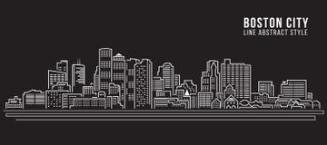 Cityscape Building Line art Vector Illustration design Stock Photo