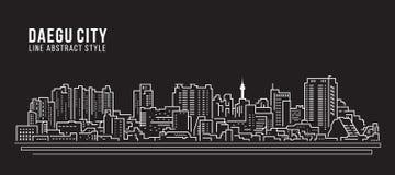Cityscape Building Line art Vector Illustration design - Daegu city Royalty Free Stock Image