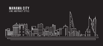 Cityscape Building Line art  Royalty Free Stock Image