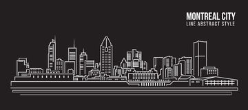 Cityscape Building Line art Vector Illustration design - Montreal city Stock Photography