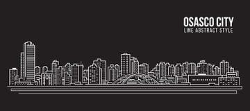 Cityscape Building Line art Vector Illustration design - Osasco city Stock Image