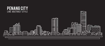Free Cityscape Building Line Art Vector Illustration Design - Penang City Stock Image - 83530531