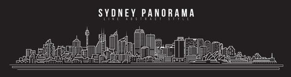 Cityscape Building Line art Vector Illustration design - Sydney city panorama royalty free illustration