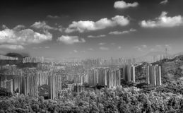 Cityscape of building near mountain in Hong Kong Royalty Free Stock Photography