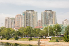 Cityscape of Buildings inTianjin,China. Royalty Free Stock Images
