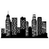 cityscape buildings isolated icon Royalty Free Stock Image