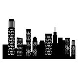 cityscape buildings isolated icon Stock Photography