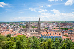 Cityscape of Burgos town Royalty Free Stock Images