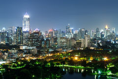 Cityscape of Business district with high building with park. (Ba Stock Image