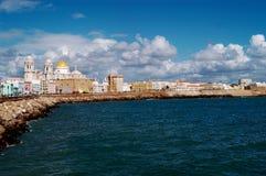 Cityscape of CádizPaseo Campo del Sur, Spain Royalty Free Stock Image