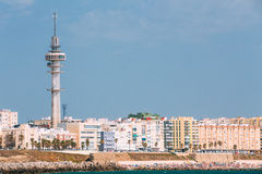 Cityscape of Cadiz town in southern Spain Royalty Free Stock Images