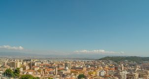 Cityscape of Cagliari, Italy, top view, timelapse. Cityscape of Cagliari, Italy, top view timelapse stock video
